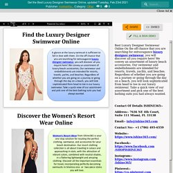 Get the Best Luxury Designer Swimwear Online