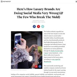 Luxury Fashion Brands Social Media Report
