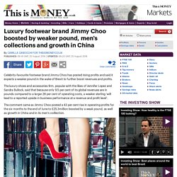 Luxury footwear brand Jimmy Choo boosted by weaker pound