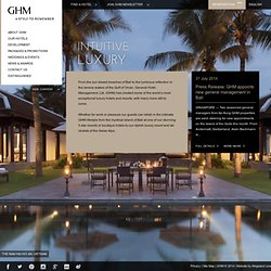 Luxury Hotels and Resorts in Asia, USA and Middle East:: General