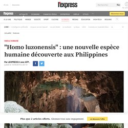 Luzonensis: ancêtres philippins