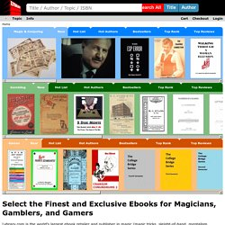 Lybrary.com - your ebook store specializing in magic ebooks, gambling ebooks and games ebooks