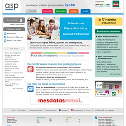 Lycée - Assistance scolaire personnalisée et gratuite - ASP