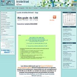 Lycée Aristide Briand à Gap - Accueil du site