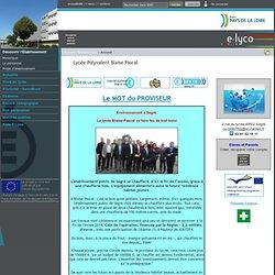 Site des Lycées polyvalent & professionnel - Blaise Pascal à Segré (49)