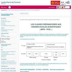 - MPSI-PCSI - Lycée Général Pierre de Fermat Toulouse JOURNÉE PORTES OUVERTES VIRTUELLES Samedi 23 Janvier 2021 à partir de 9h