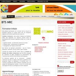 Lycée le Grand Chênois » BTS NRC