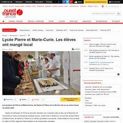 Lycée Pierre et Marie-Curie. Les élèves ont mangé local