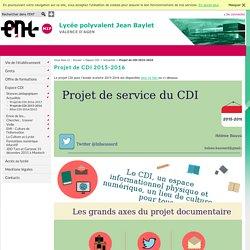 LYCEE POLYVALENT JEAN BAYLET - Projet de CDI 2015-2016