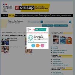 Au lycée professionnel et au CFA - Onisep