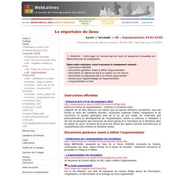 Lycée > Seconde > OE : Argumentation XVIIe XVIII