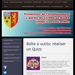 Lycée Privé Notre Dame de Valenciennes - Réaliser un Quizz