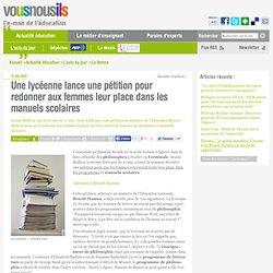 Une lycéenne lance une pétition pour redonner aux femmes leur place dans les manuels scolaires