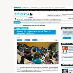 Quand les lycéens se mettent dans la peau des étudiants - Enquête sur Educpros