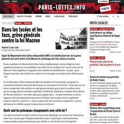 Dans les lycées et les facs, grève générale contre la loi Macron