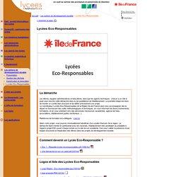 Lycées de l'Ile de France : Lycées Eco-Responsables