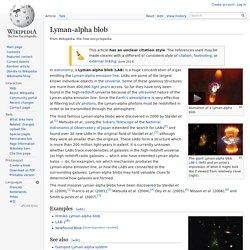 Lyman-alpha blob