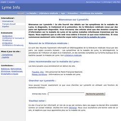 Maladie de Lyme (Borréliose de Lyme)