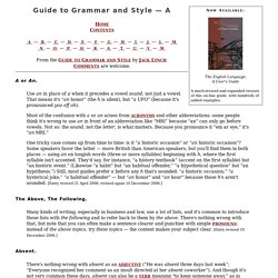 Lynch, Guide to Grammar and Style — A