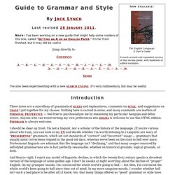 Lynch, Guide to Grammar and Style