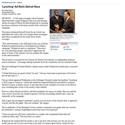 'Lynching' Ad Roils Detroit Race