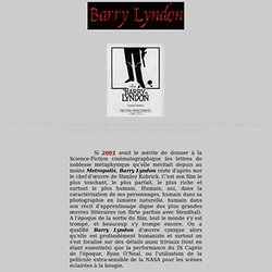 Barry Lyndon - analyse du film de Stanley Kubrick