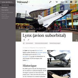 Le Lynx, avion suborbital