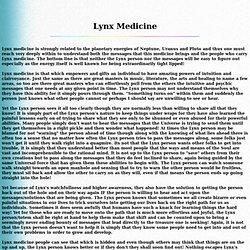 Lynx Medicine