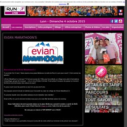Run In Lyon : Les courses : Evian marathoon's
