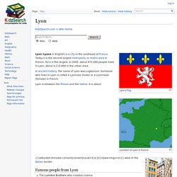Lyon Facts for Kids