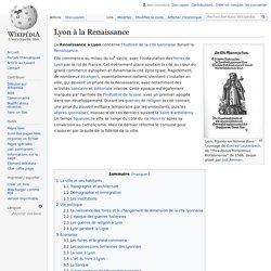 Lyon à la Renaissance