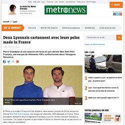 Deux Lyonnais cartonnent avec leurs polos made in France