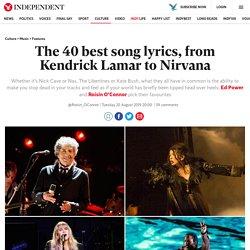 The 40 best song lyrics, from Kendrick Lamar to Nirvana