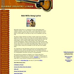 Western Swing lyrics with Guitar Chords