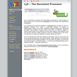 LyX | LyX – The Document Processor