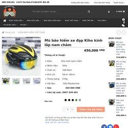 Mũ bảo hiểm xe đạp Kiho kính lắp nam châm