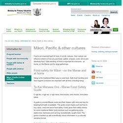 Māori, Pacific & other cultures