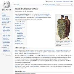 Māori traditional textiles