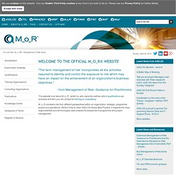 M_o_R® - Management of Risk Home