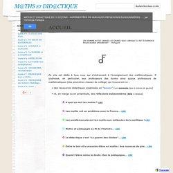 Maths et Didactique