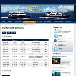 M/V Mermaid II Schedules -