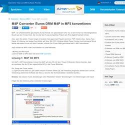 M4P Converter - M4P to MP3, iTunes DRM M4P to MP3, iTunes Music Converter