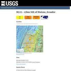M7.8 - 27km SSE of Muisne, Ecuador