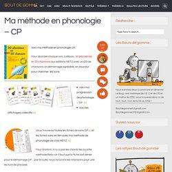 Ma méthode en phonologie – CP