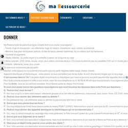Ma Ressourcerie » Donner - Ma Ressourcerie
