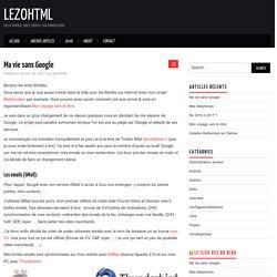 Ma vie sans Google – LezoHTML