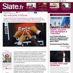 Ma web party à l'Elysée