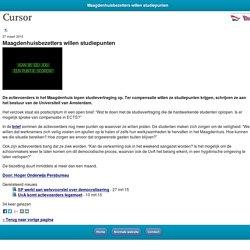 cursor TU/e Maagdenhuisbezetters willen studiepunten