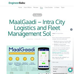 MaalGaadi app Developed and Designed By EngineerBabu