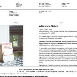 A Common Dialect - Marres Maastricht - Centre For Contemporary Culture